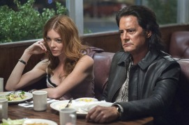 Nicole LaLiberte and Kyle MacLachlan in a still from Twin Peaks. Photo: Suzanne Tenner/SHOWTIME