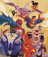 justice league power rangers 6